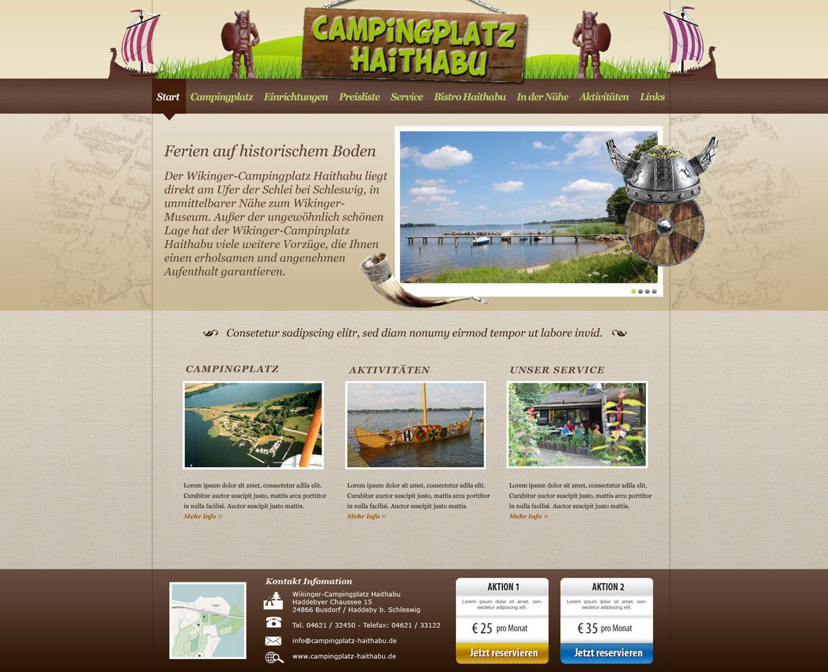 Screendesign Campingplatz Haithabu