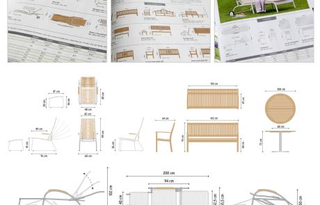 Technische Illustration Katalog Garpa Garten und Parkeinrichtungen