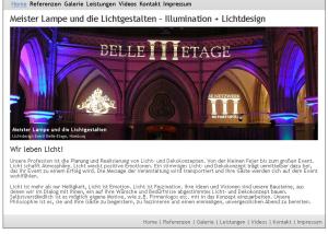 Webdesign Die Lichtgestalten