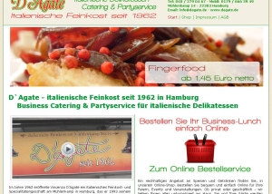 Webdesign Dagate italienische Delikatessen