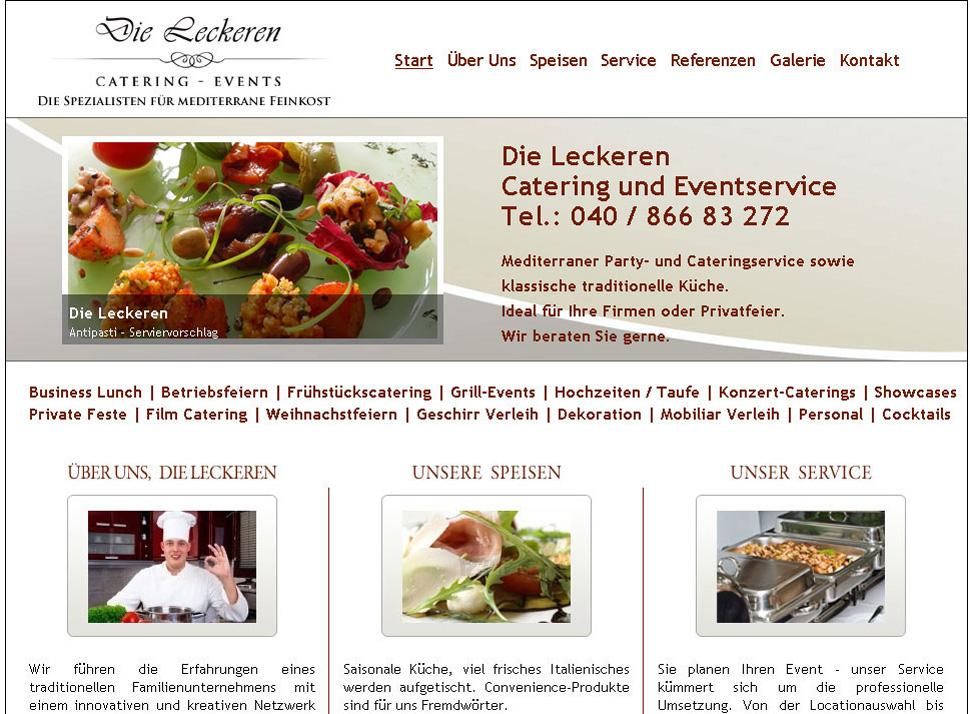 Webdesign die-leckeren.com