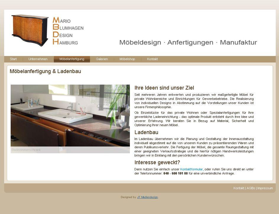 Möbeldesign Hamburg mbdh möbeldesign hamburg webdesign jf mediendesign