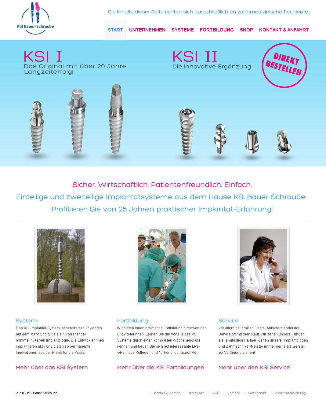 Wordpress Webdesign K.S.I. Bauer Schraube