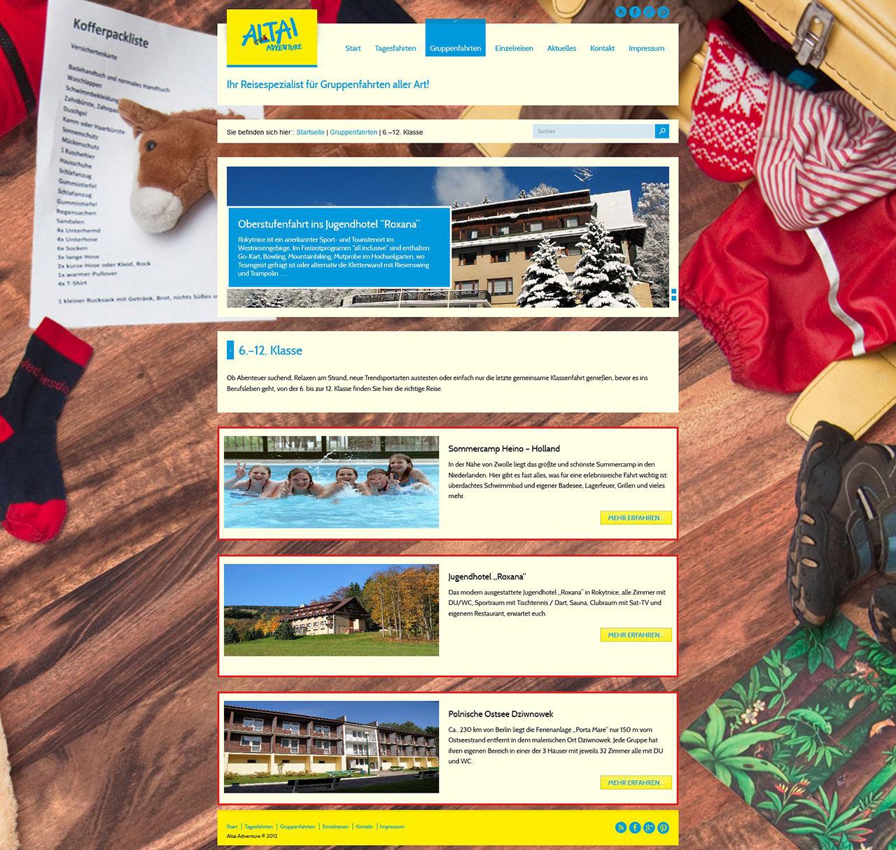 Webdesign Altai-Gruppenagent.de