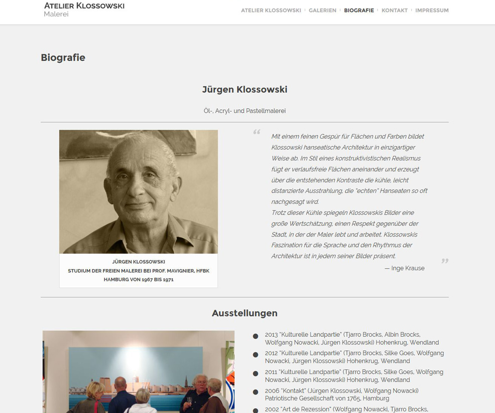 Wordpress Webdesign klossowski.de