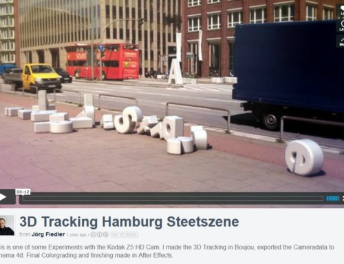 Video 3D Tracking Hamburg Straßenszene