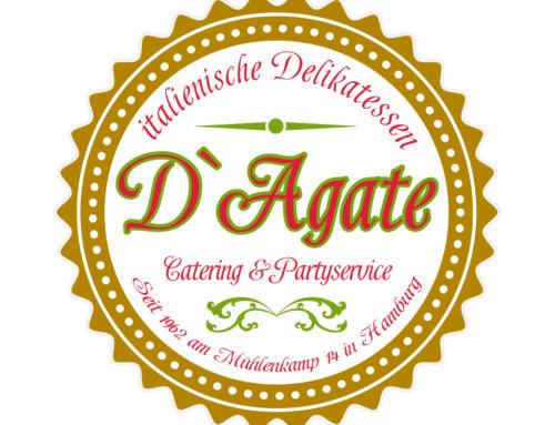 Logosignet Speisekarte D`Agate