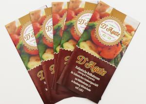 Grafikdesign Speisekarte Dagate Catering