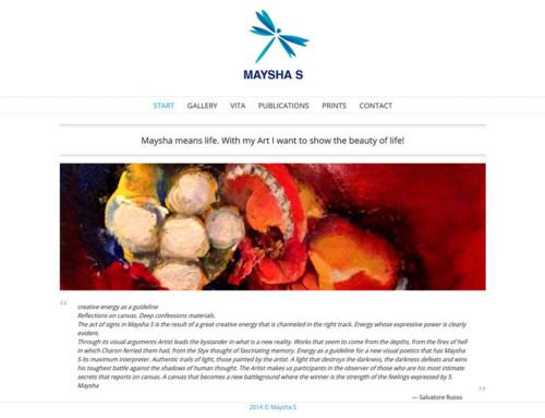 Webdesign maysha-s.com