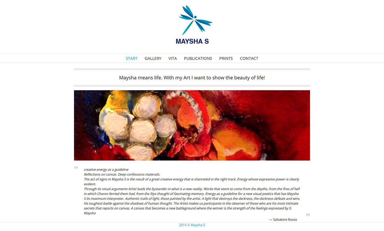 Wordpress Webdesign maysha-s.com