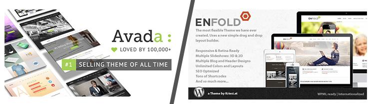 2 Wordpress Multifunktions Themes im Vergleich: Avada vs Enfold