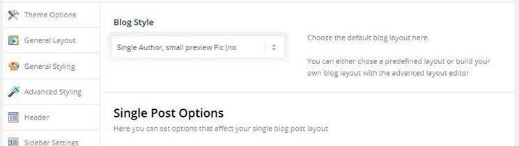 Blog Layout Enfold Theme