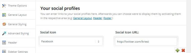 Social Profiles Enfold Theme