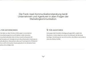 Webdesign frankapel.de