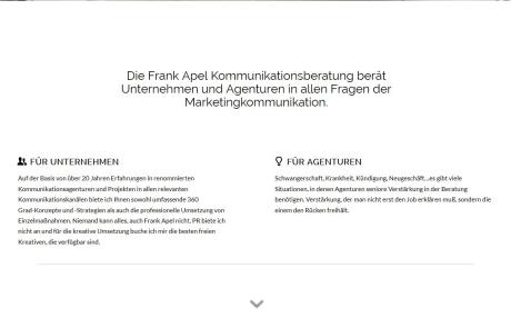Webdesign frankapel.de