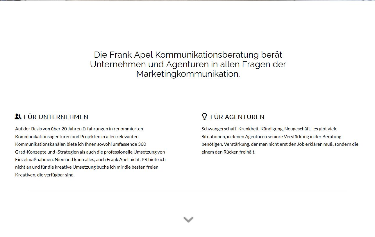 Wordpress Webdesign frankapel.de