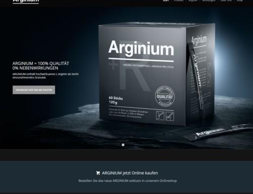 Webdesign Arginium Onlineshop