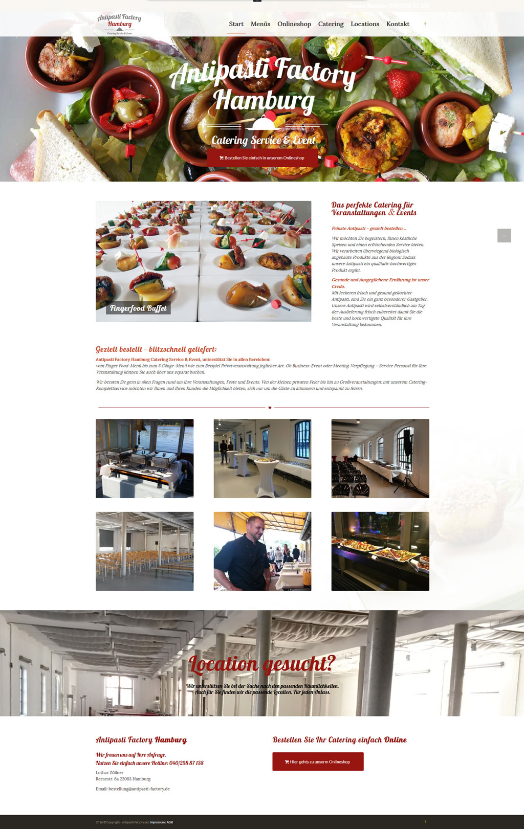 Wordpress Webdesign Antipasti Factory Hamburg