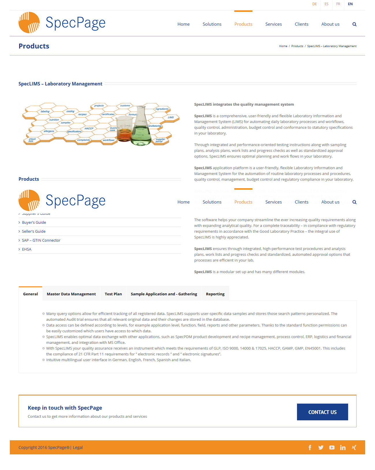 Wordpress Webdesign specpage.com