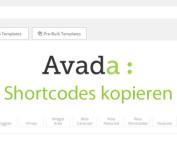 Avada-Fusion-Builder Shortcodes kopieren