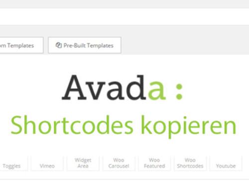 Avada Tipps – Shortcodes kopieren