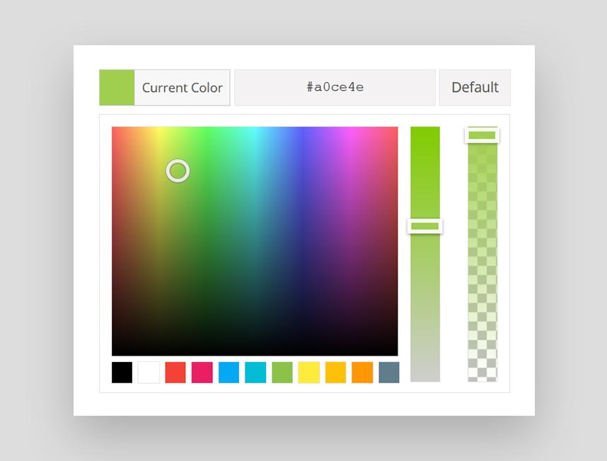 Ein neuer Color Picker im Avada Theme 4