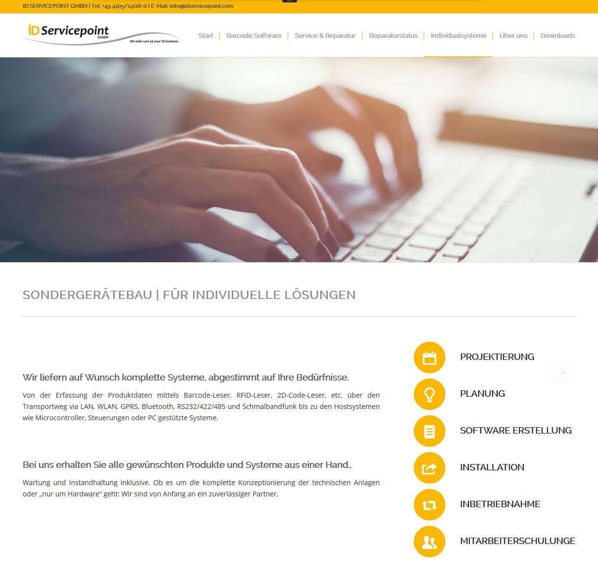 Wordpress Webdesign ID-Servicepoint GmbH