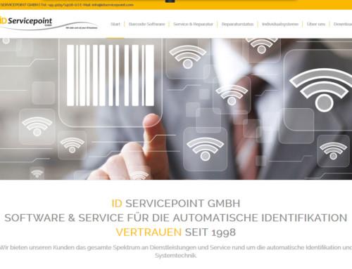 Webdesign der Firma ID Servicepoint GmbH