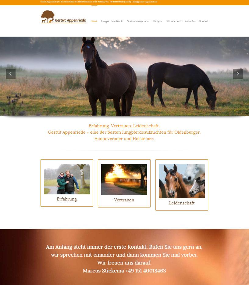 Wordpress Webdesign Gestüt Appenriede