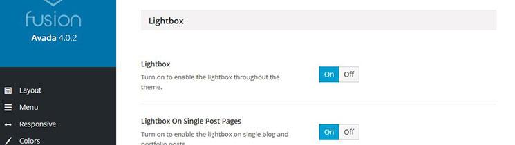 Lightbox Options