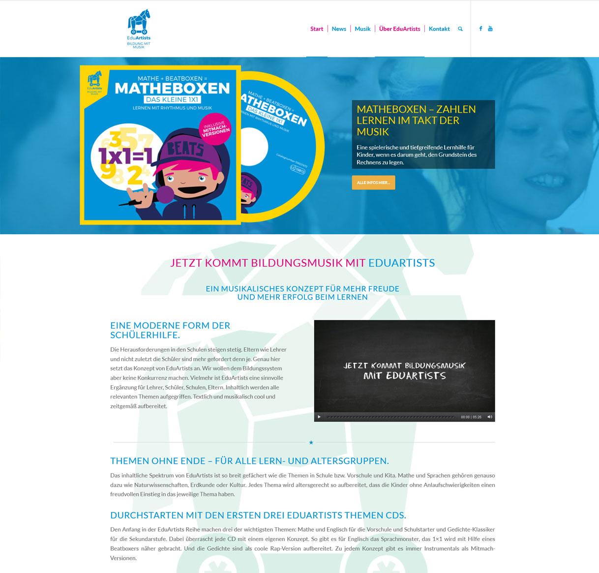 Wordpress Webdesign eduartists