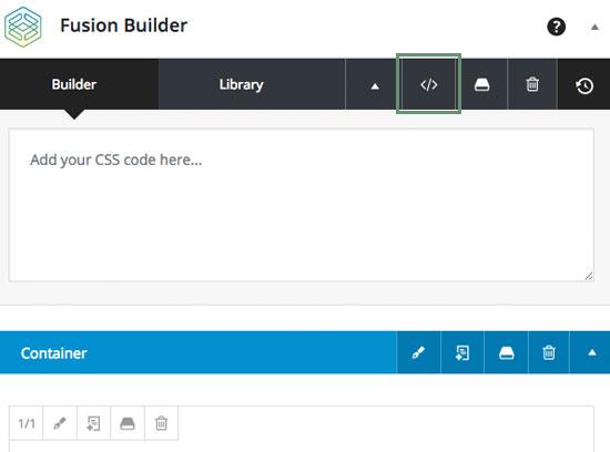 Avada 5 - Eigene CSS Anweisungen im Fusion Builder