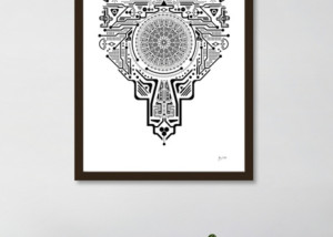 Ancient Head Circle Poster Art JF Mediendesign