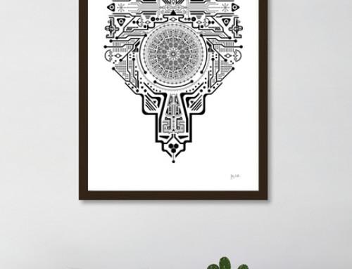 Head Circle Poster Art