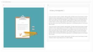 Inhalte für den Farb-Sektions-Container erstellen
