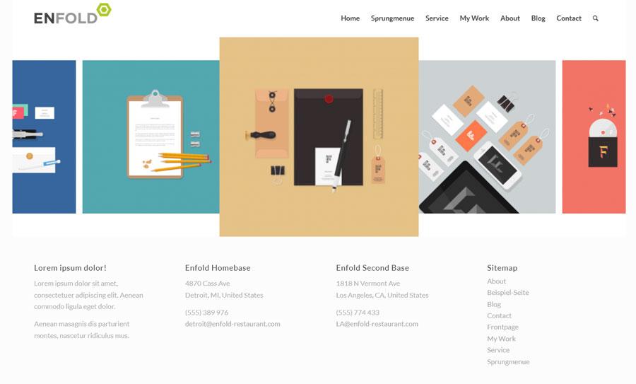 Enfold Theme Horizontal-Galerie