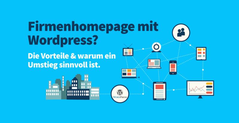 Firmenhomepage mit Wordpress?
