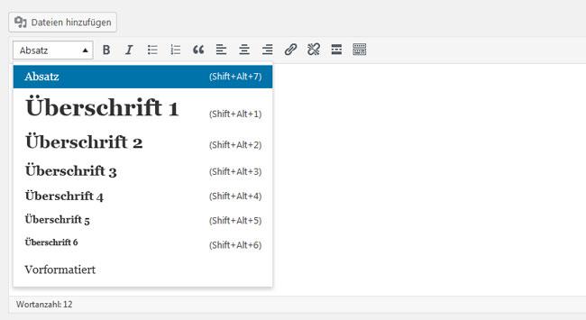 Strukturierung der Inhalte Wordpress OnPage SEO Webdesign Hamburg | JF Mediendesign