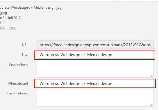 Titel-und-alt-tag-fuer-Bilder in Wordpress