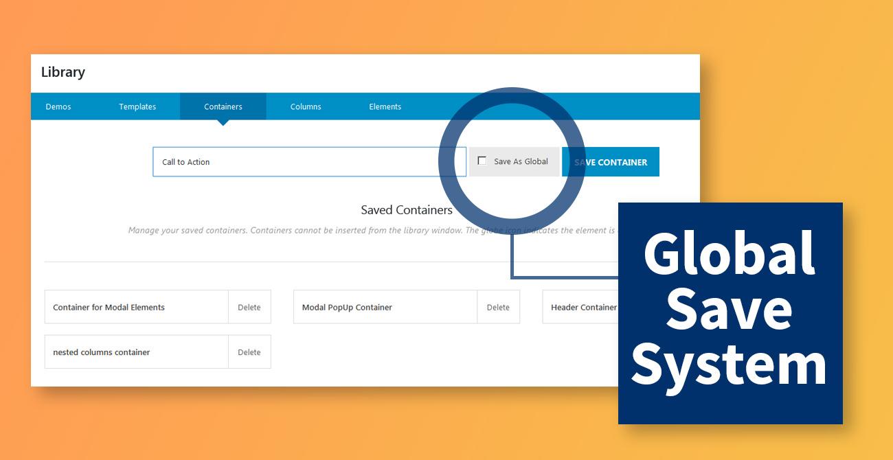 Avada 5.3 Global Save System