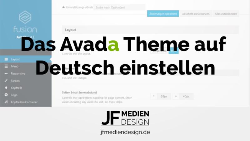 Das Avada Theme auf Deutsch einstellen