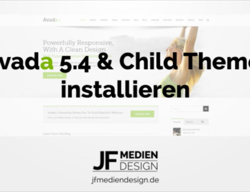 Avada 5.4 & Child Theme installieren
