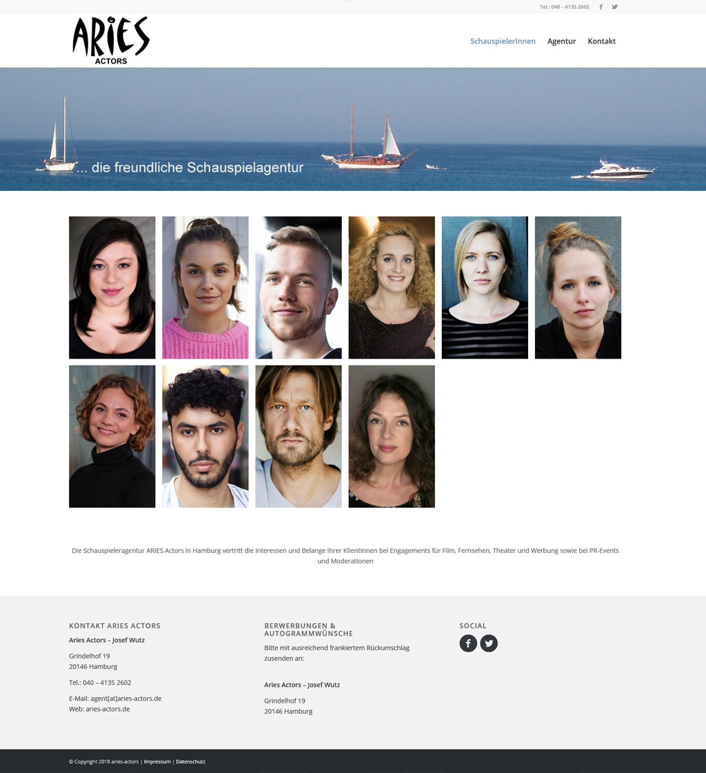 Webdesign Aries Actors