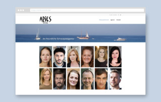 Webdesign Referenz Aries Actors