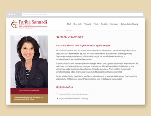 Webdesign Fariba Sarmadi
