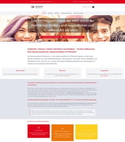 AWO Rheinland Webdesign