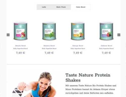 Woocommerce Onlineshop Taste-Nature
