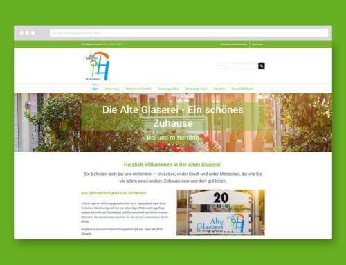 Webdesign Alte Glaserei der AWO Rheinland