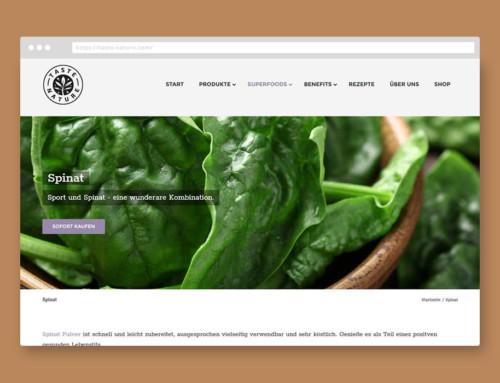 Webentwicklung Taste-Nature.com