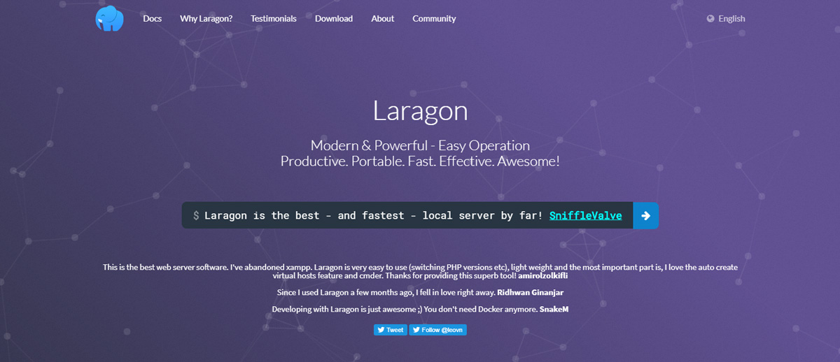 Wordpress lokal installiern - Laragon-WAMP-Server-Homepage